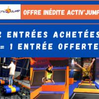 2 entrées Achetées + 1 offerte Activ'Jump